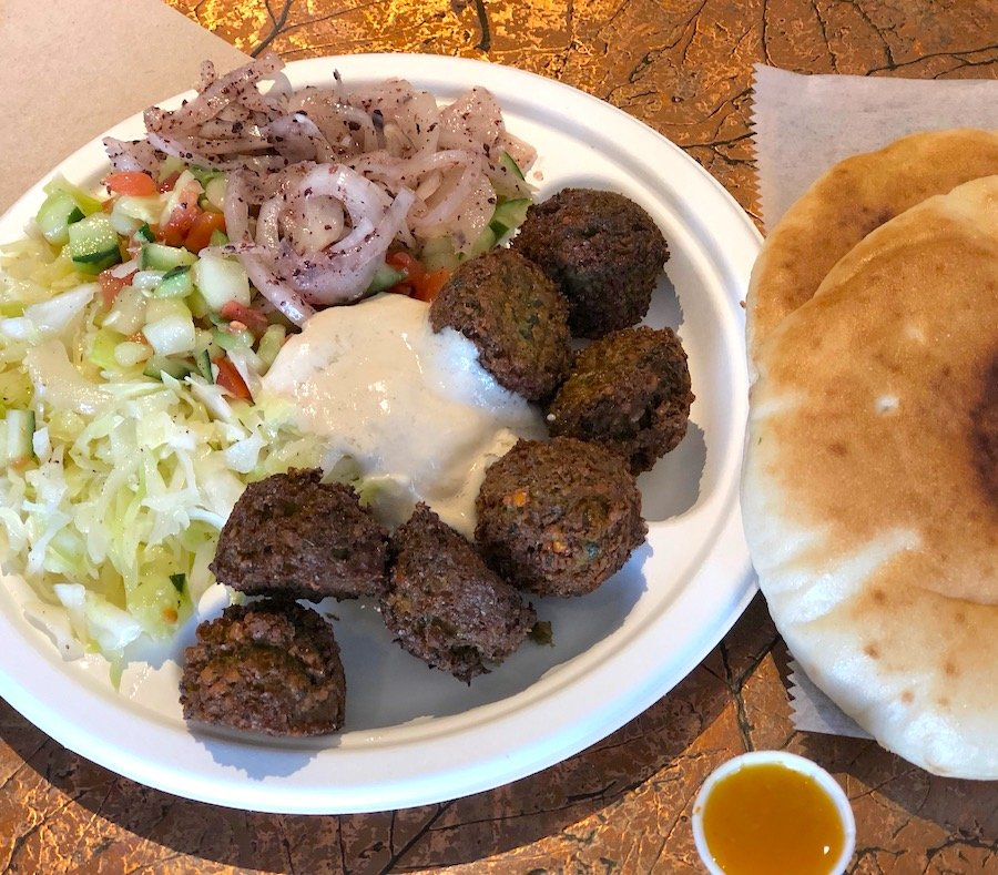 Aba's Falafel (Rhinebeck, NY) combination platter
