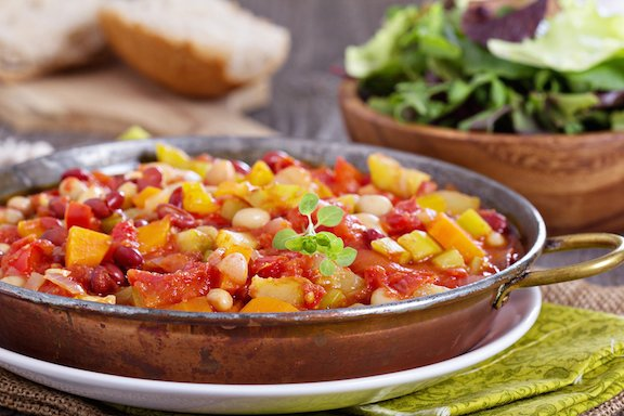 Vegetable and bean stew