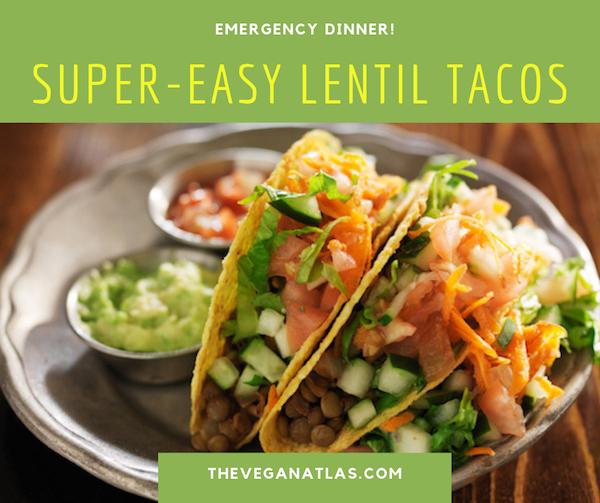 Easy Lentil tacos graphic1