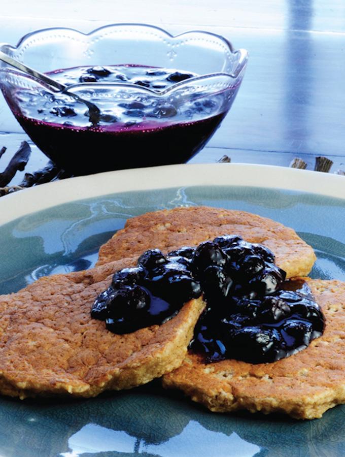 Gluten-Free vegan banana walnut pancakes