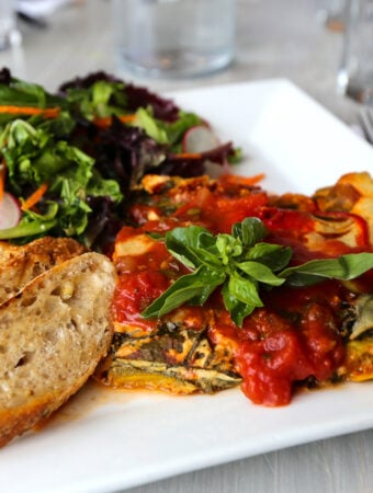 Garden Cafe Woodstock - vegetable lasagna