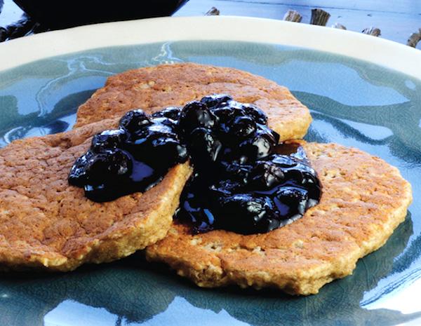 Gluten-free banana walnut pancakes