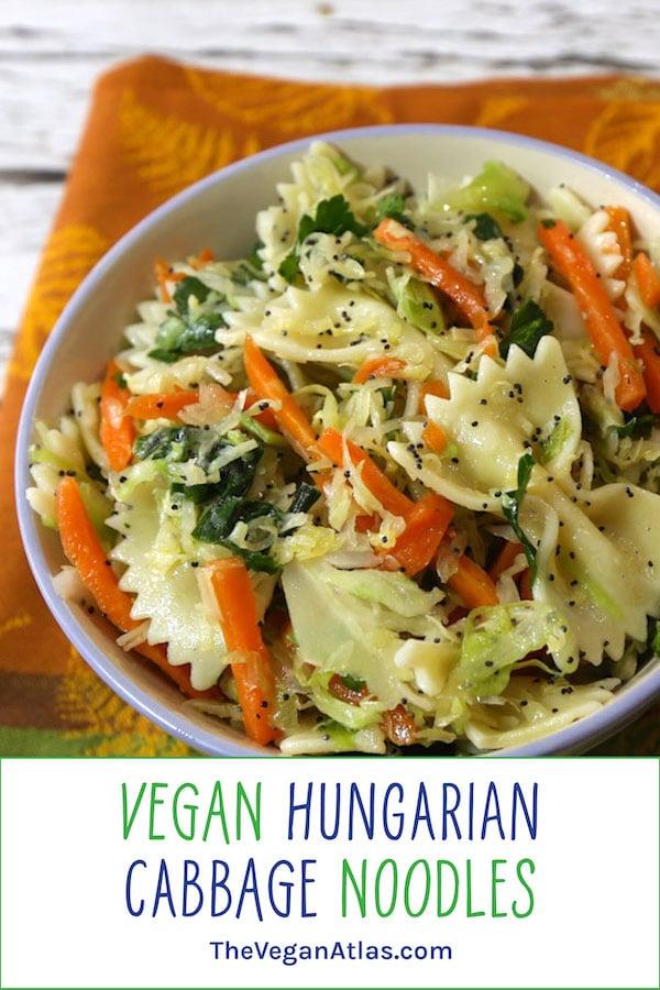 Vegan Hungarian Cabbage noodles