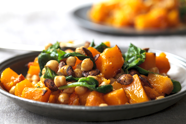 Roasted butternut, chickpeas, spinach