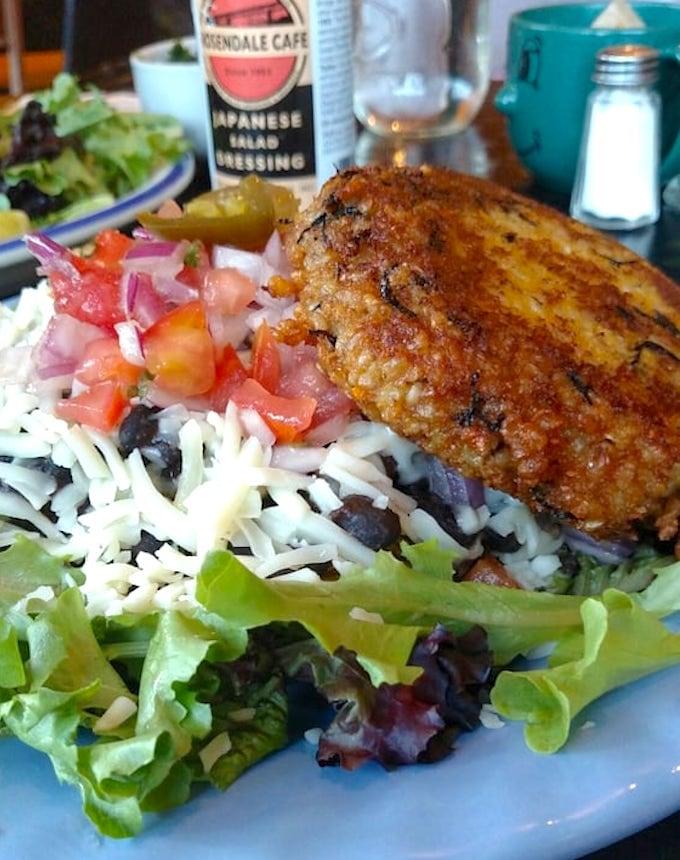 Rosendale cafe - taco salad & brown rice burger