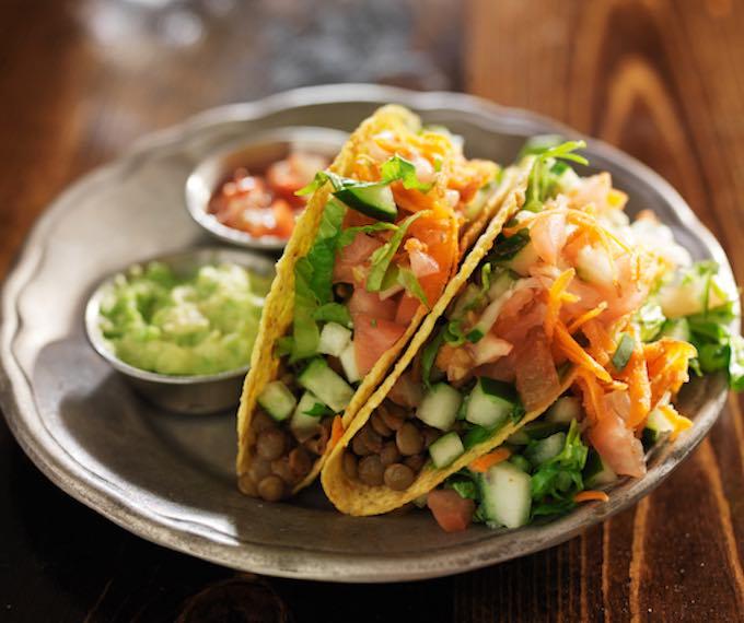 Super Easy Vegan Lentil Tacos