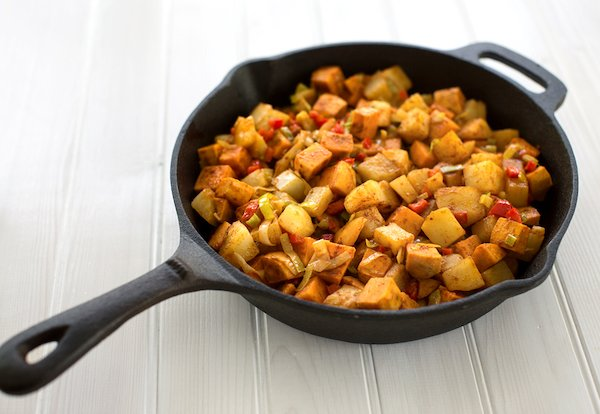 Easy vegan hash brown potatoes