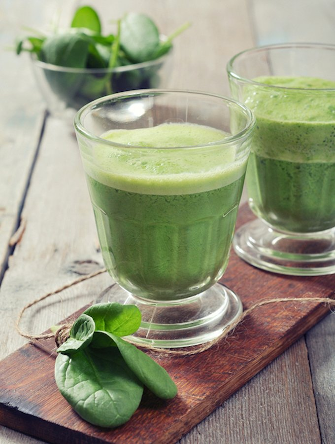 Apple And Spinach Juice