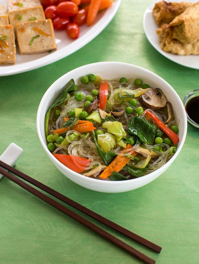 Asian Noodle & Vegetable Bowls
