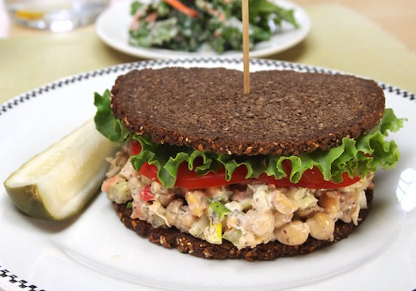 Chickpea salad or sandwich spread