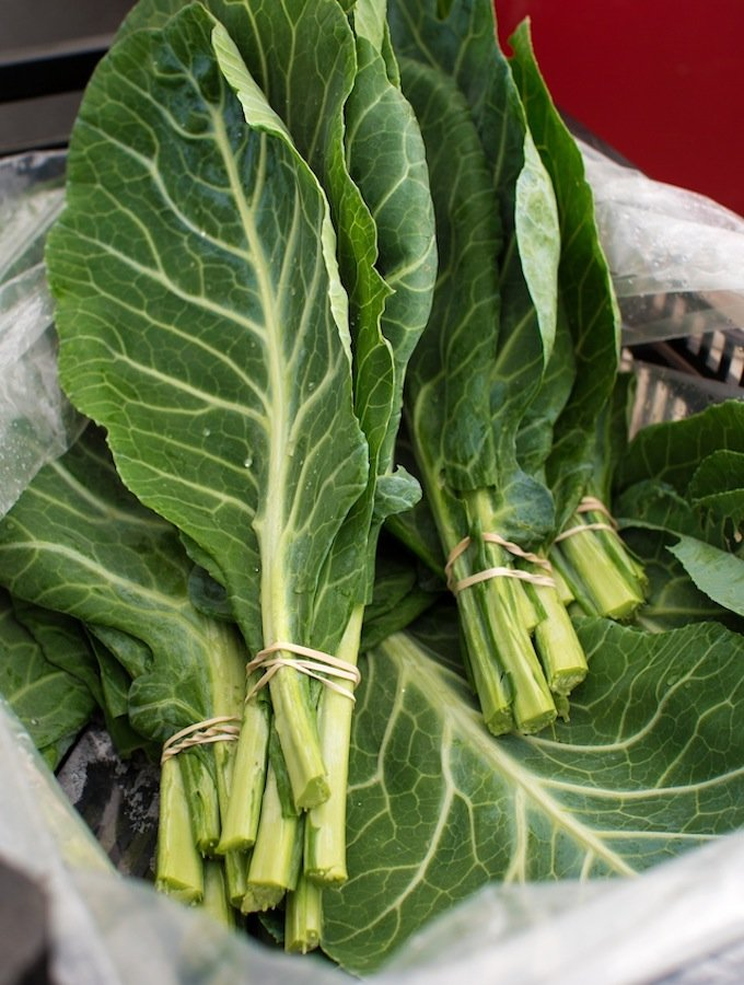 Collard greens at market