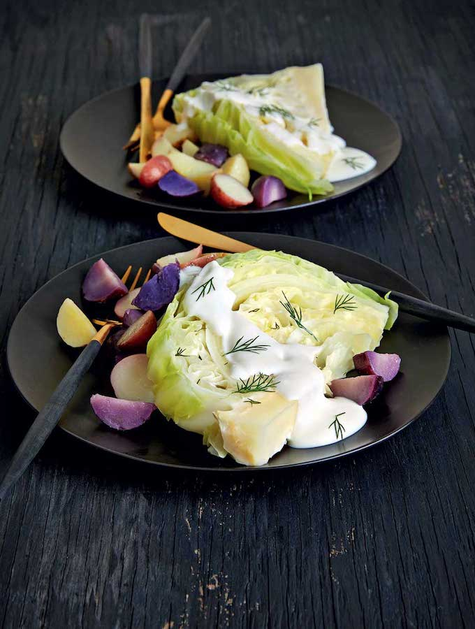 Dill Cabbage Steaks