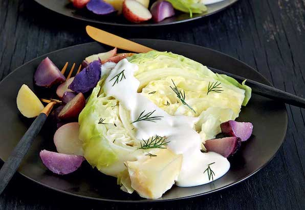 Slow Cooker Dill Cabbage Steaks