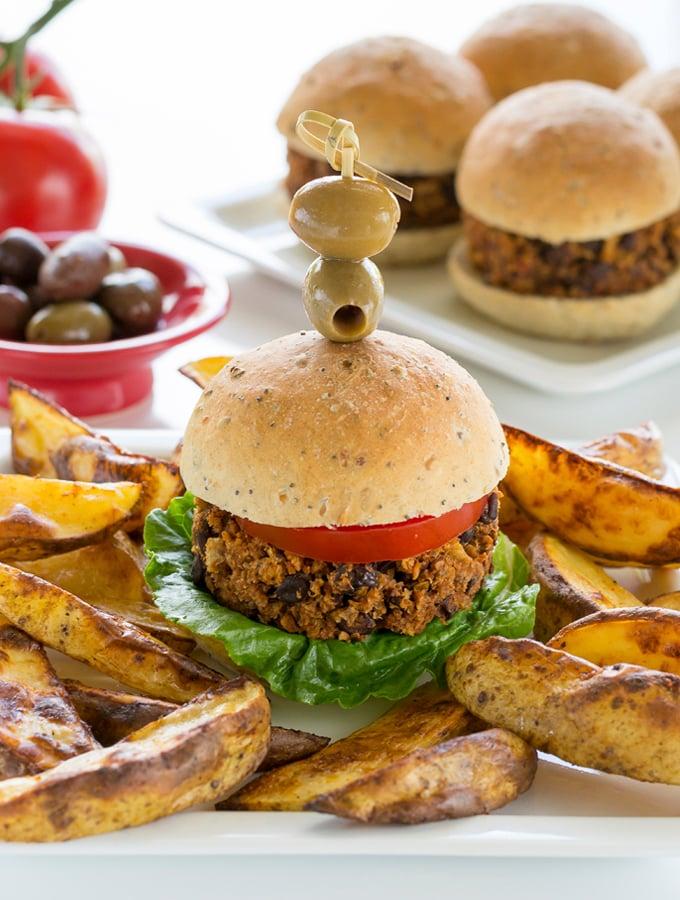 Easy vegan black bean burger