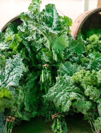 Kale at market
