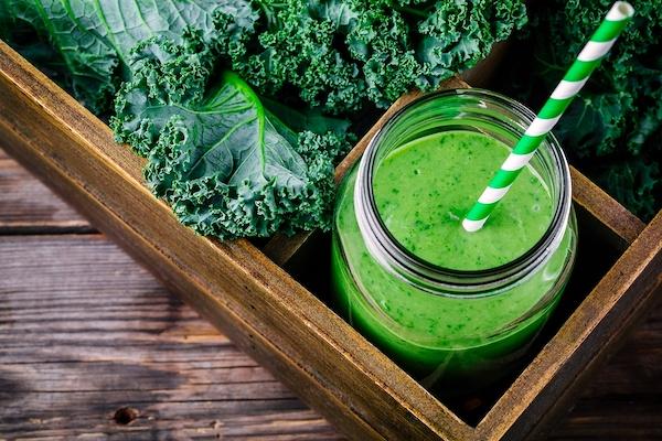 Kale juice or smoothie