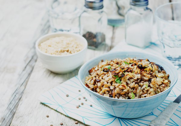 (Middle Eastern Rice with Lentils)
