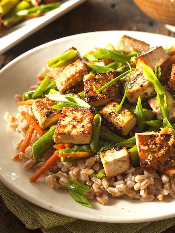 Sweet and Savory Stir-Fried Tofu