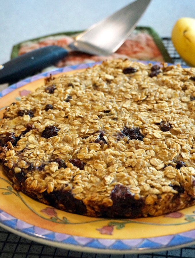 vegan blueberry oat breakfast cake2
