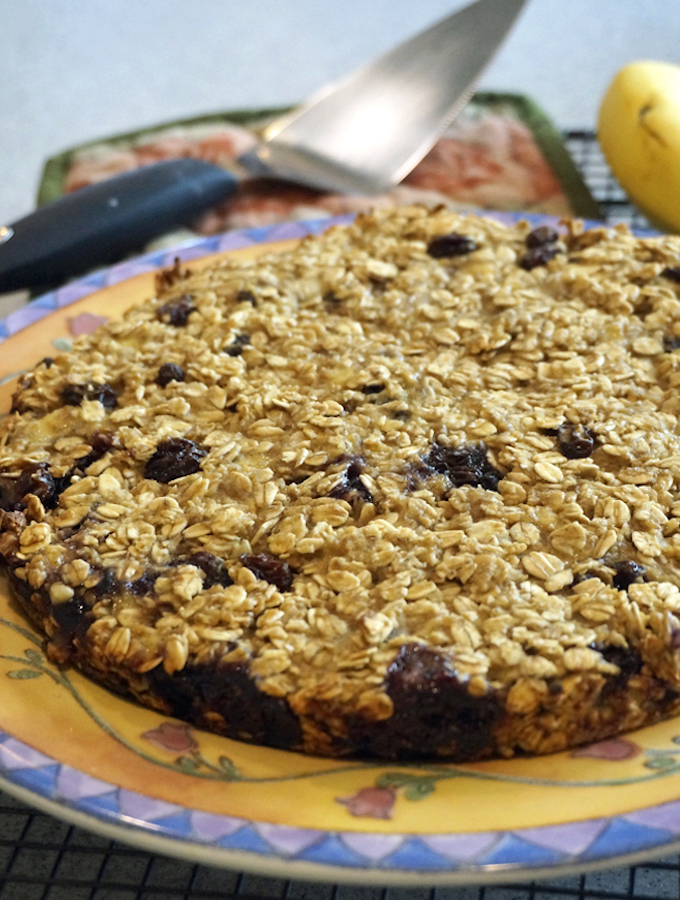 Oat and Blueberry Breakfast Cake