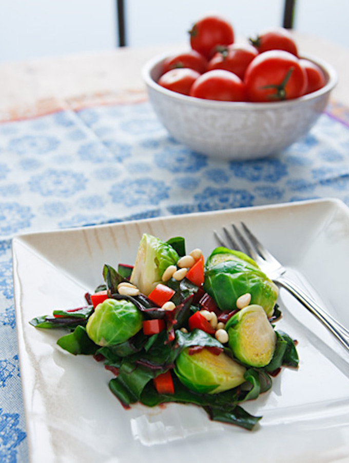 Brussels Sprouts with Leafy Greens