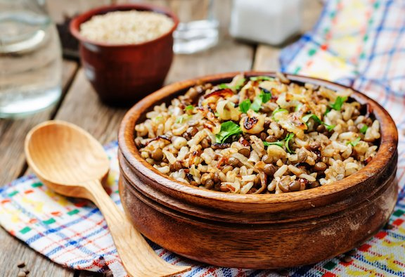 Mujaddarah - Middle Eastern Lentils with rice