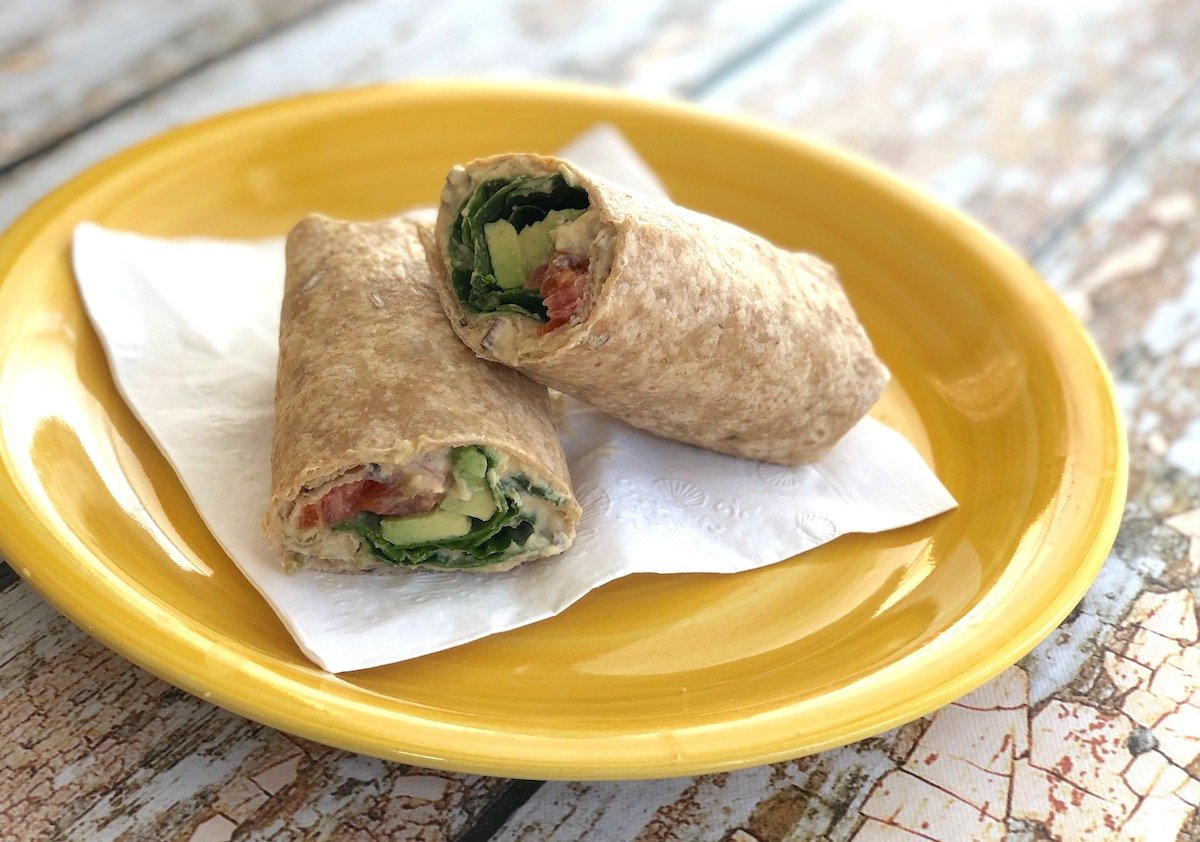 Avocado and olive hummus wrap3