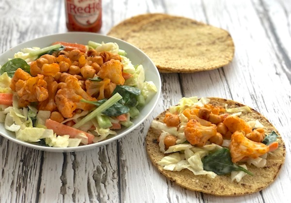 Buffalo cauliflower chickpea salad2