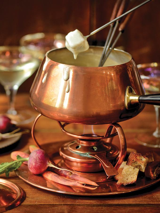 Vegan Champagne Fondue