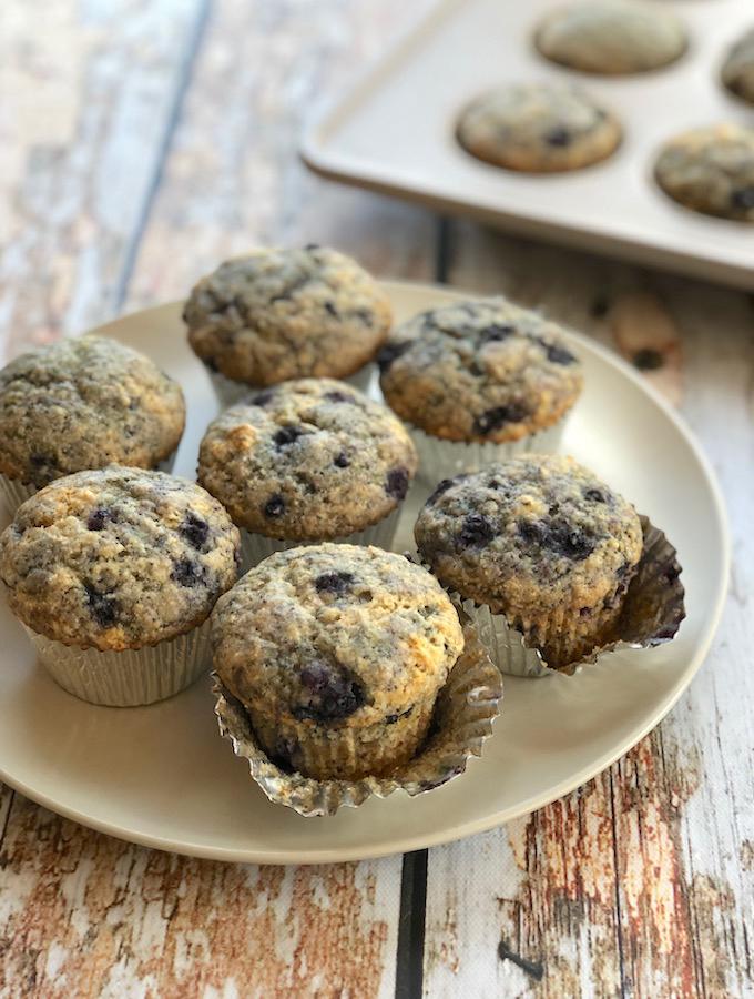 Lemon Poppy Blueberry Muffins