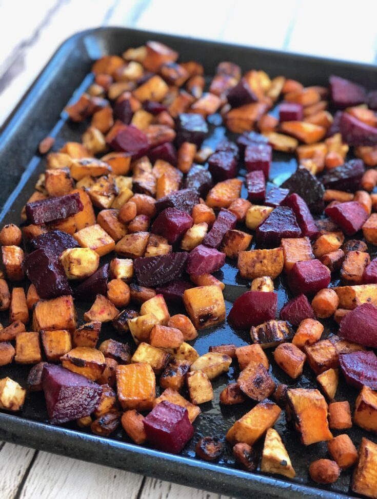 Miso Roasted Root Veggies