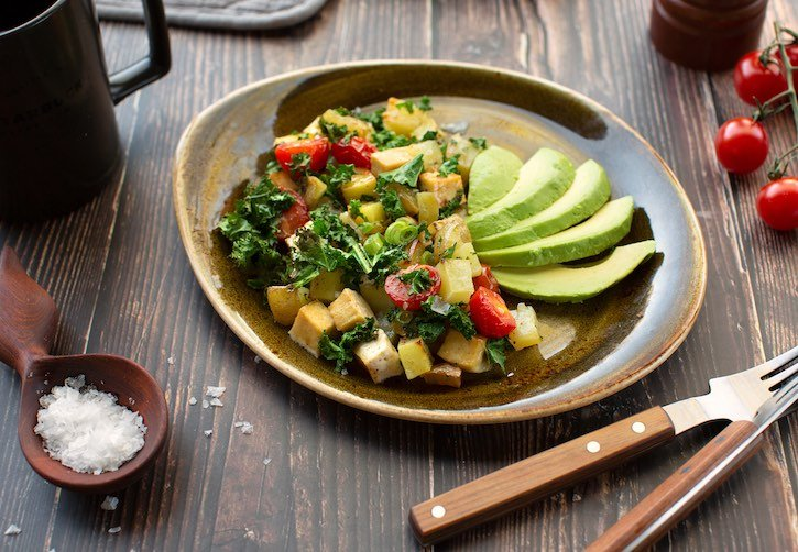 Potato, Tofu, and Kale Sheet Pan Hash Browns3sm