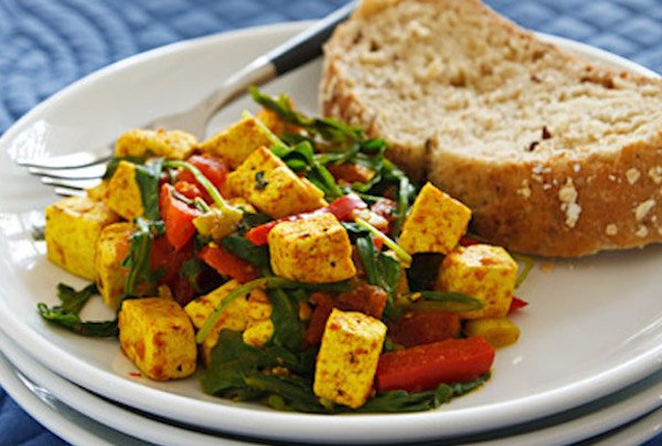 Spinach or Arugula Tofu Scramble2