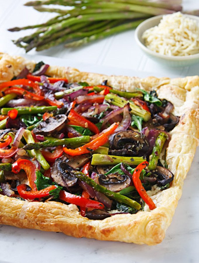 Vegan Spring Vegetable Tart