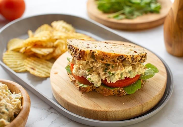 "Vegan ""Tofuna"" — baked tofu salad or sandwich spread"