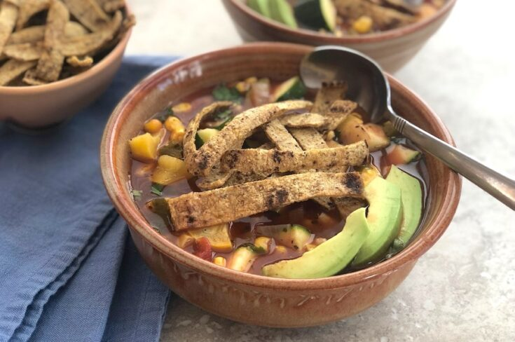 Tortilla Soup with Summer Squash and Corn
