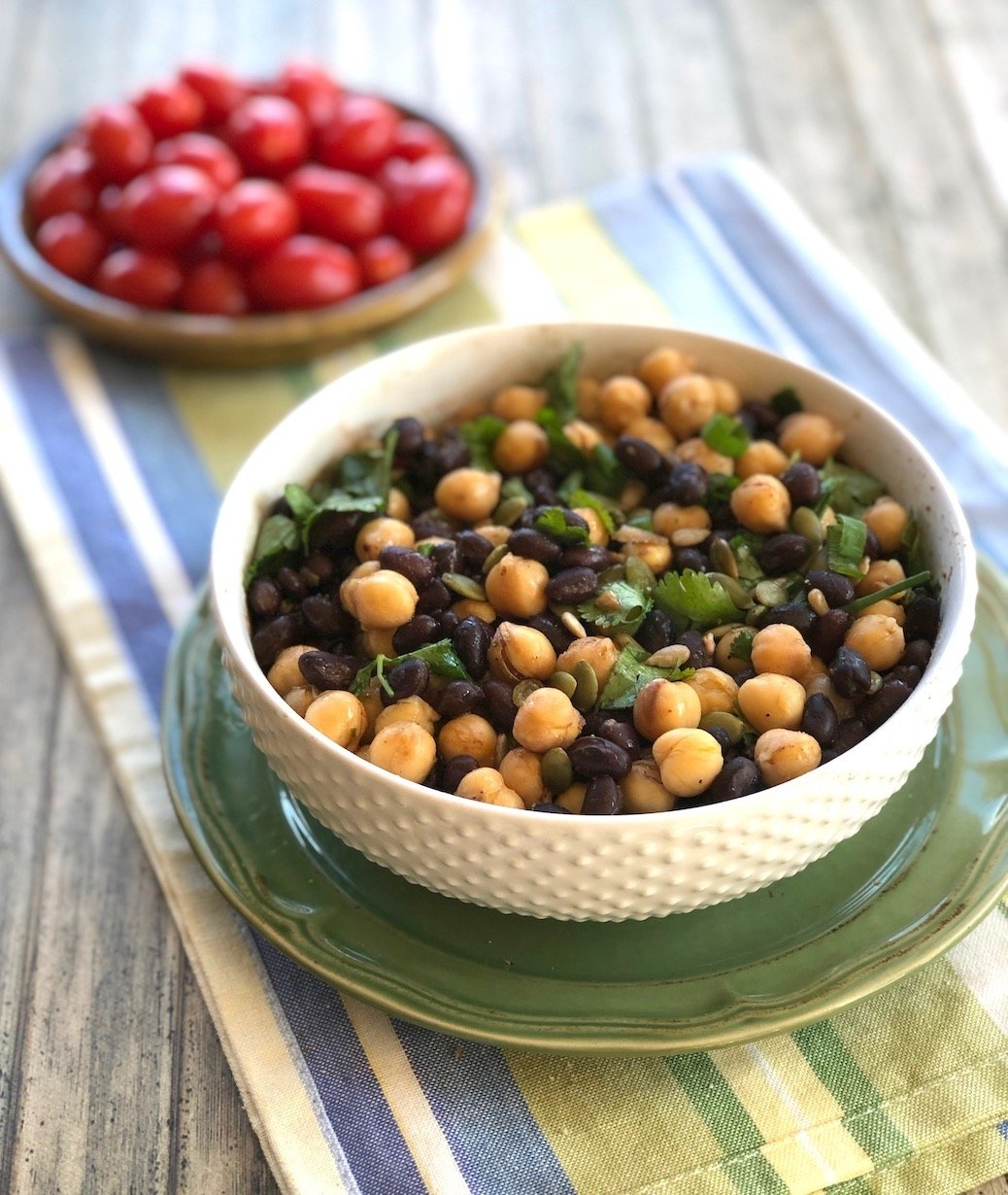 Quick and easy two-bean salad