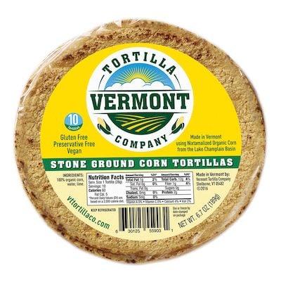 Vermont tortilla company corn tortillas