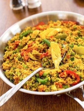 Vegan Quinoa paella