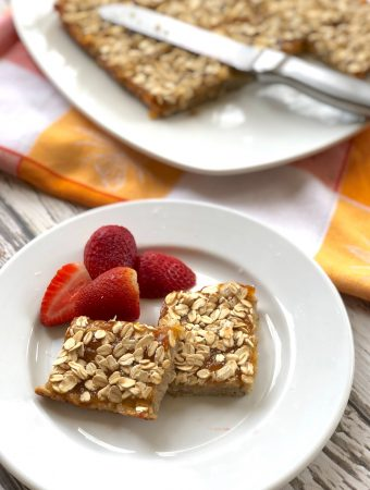 Vegan gluten free apricot bars