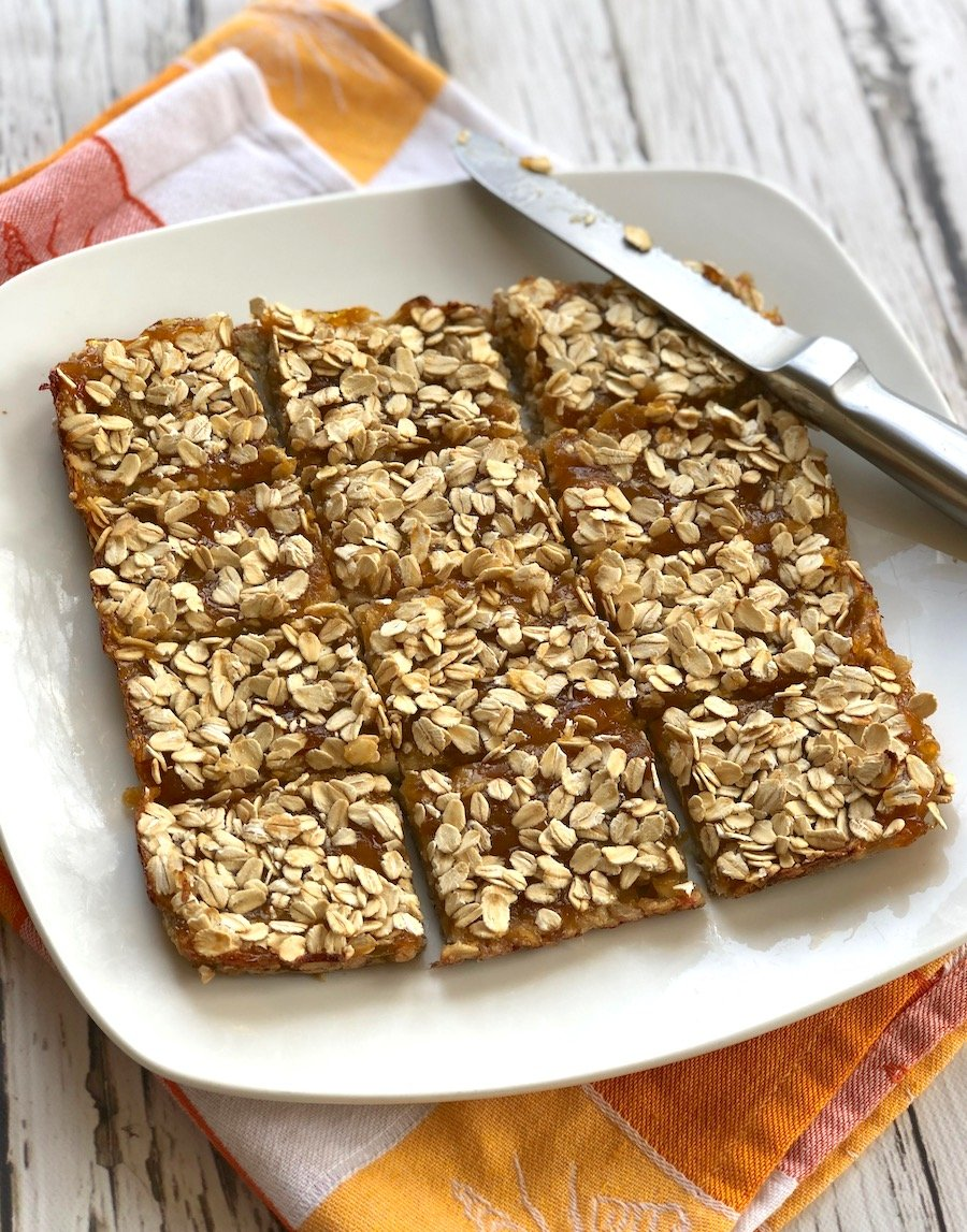 Gluten free vegan apricot bars