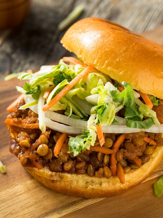 BBQ-Flavored Lentil Sloppy Joes