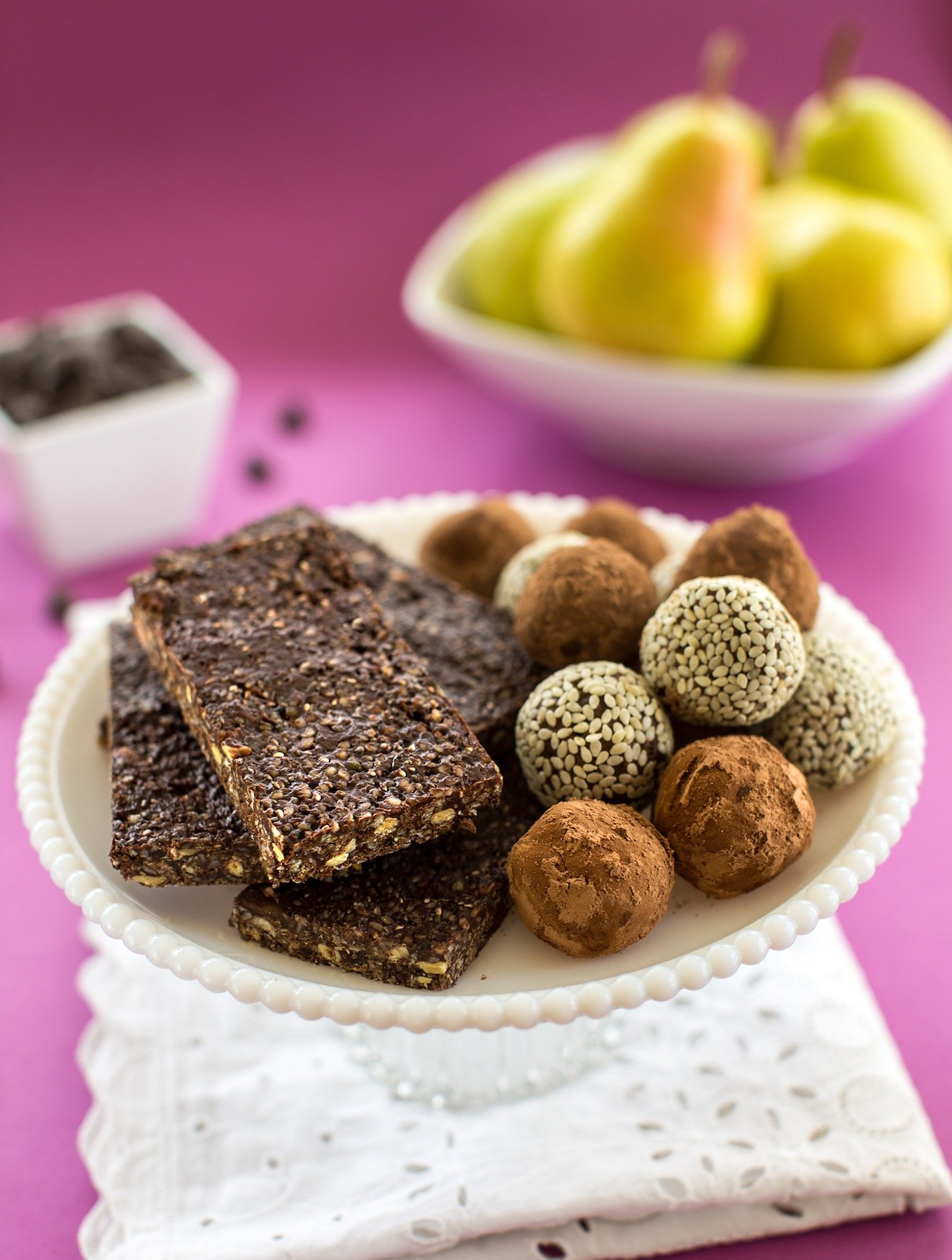 Energy bars and truffles cropped