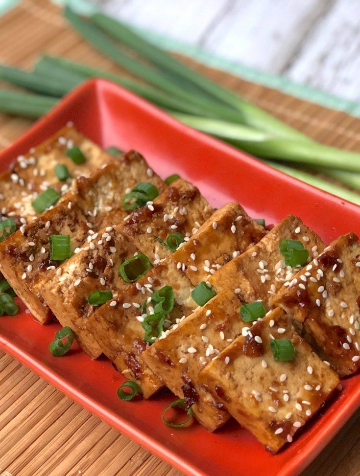 Sweet and Savory Glazed Orange Tofu