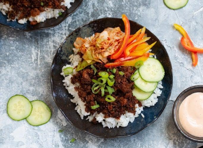 Korean Beef-less Bowls