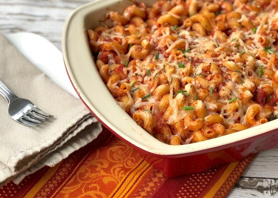 Lasagna-like vegan pasta casserole