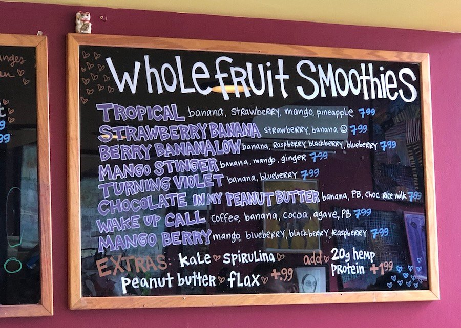 Smoothies at Karma Road in New Paltz
