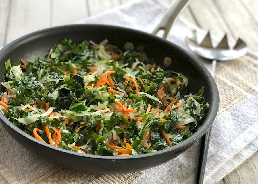 Stir-fried collard greens