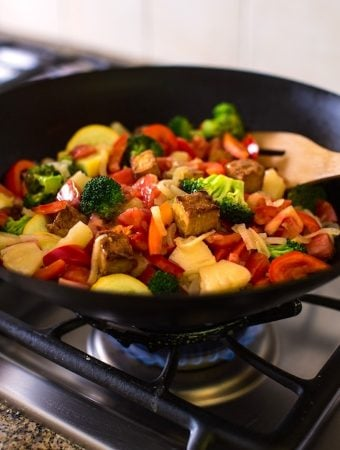 Sweet and Sour Vegetables stir-fry