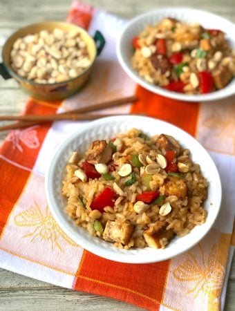 Teriyaki fried rice and tofu1